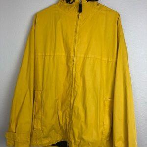 Gap bright yellow rain jacket men's